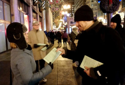 Pioneer Press - Passing Out Flyers 20171215_190643