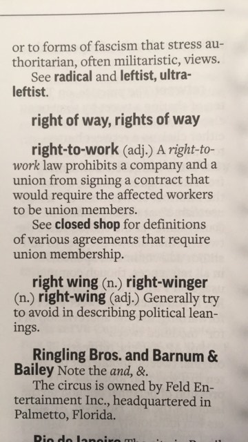 "Previous AP Stylebook definition of ""right-to-work"""