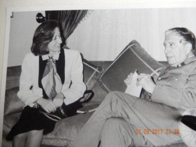Journalist Shirley Chrisholm with Gen. Augusto Pinochet