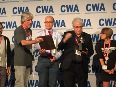 Org Award CWA Convention 2019 - 9 Group Individuals Looking at Awards IMG_8266