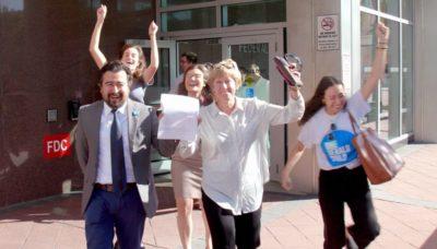 Celebration leaving NLRB after vote count 2019-1120