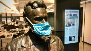 Pulitzer Bust with Mask