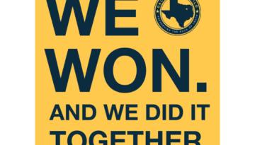 Dallas News Guild victory tweet for website