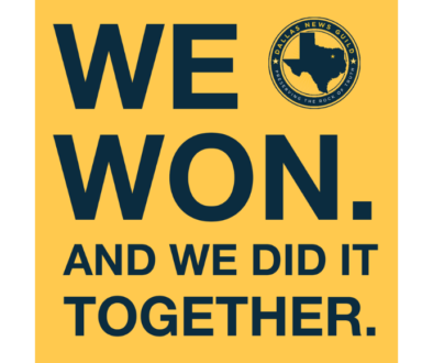 Dallas News Guild victory tweet for website